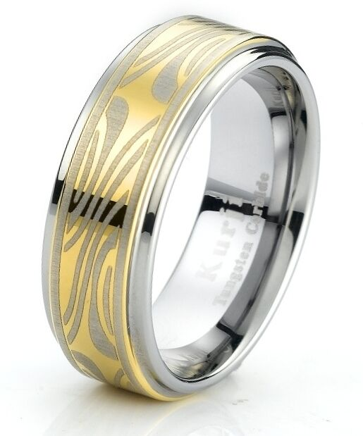 Tungsten Carbide Men's Engagement Wedding Band Ring With