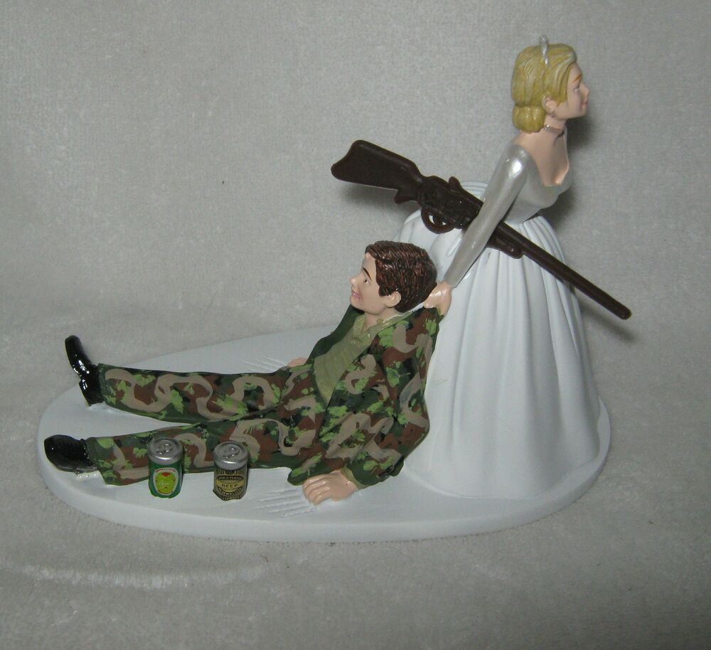camo wedding cake topper wedding reception camo groom 2 cans 12341