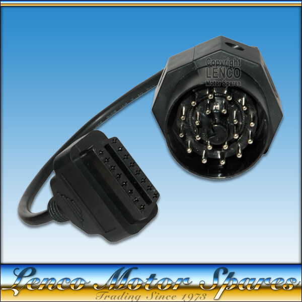 Bmw E30 E34 E36 E39 Z3 X5 20 Pin Obd To Odb2 16 Pin