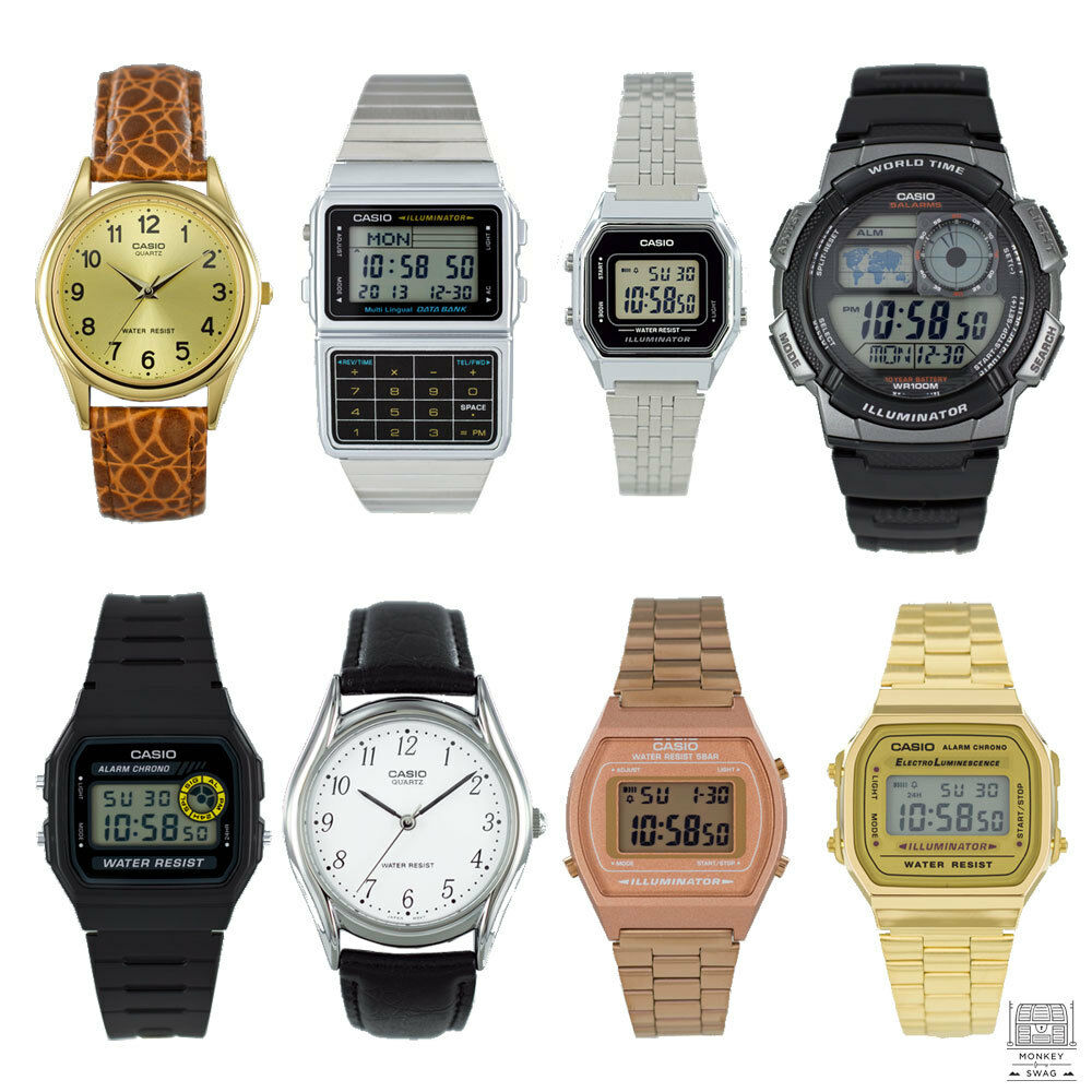 Casio digital watches gold