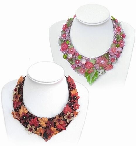 Flower bead collars instructions embroidery