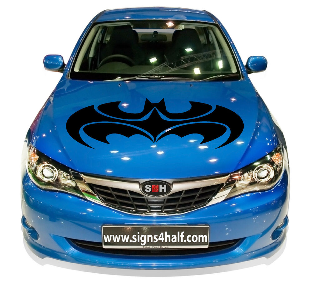 Details about custom made car hood batman premium decal sticker vinyl sport auto truck wrap nr
