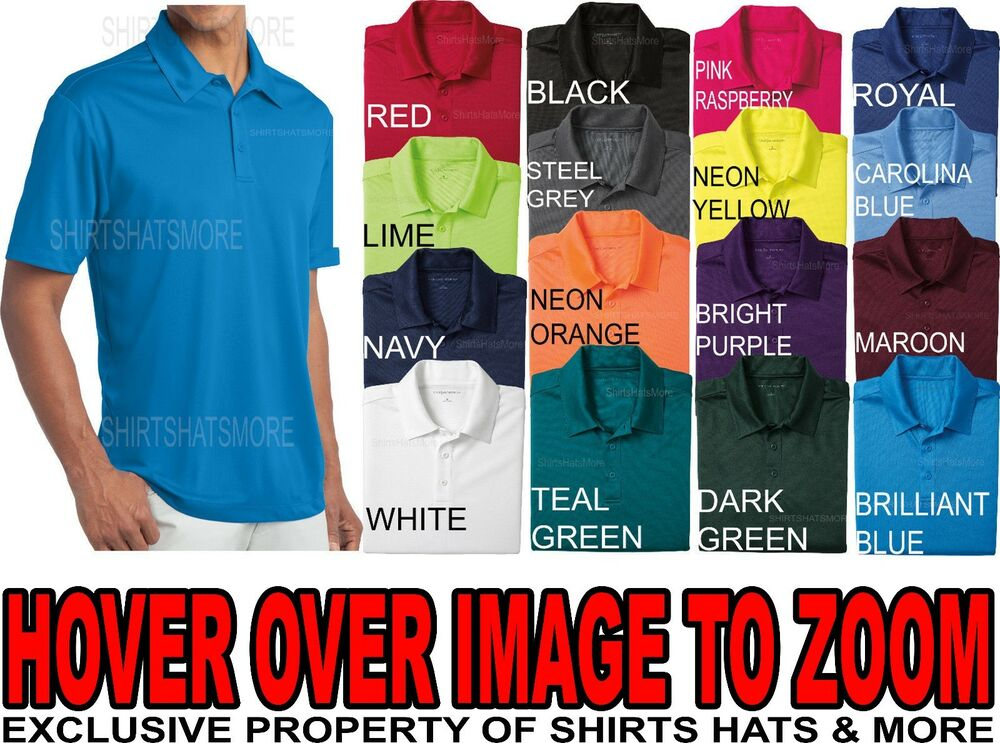 Mens polo shirt moisture wicking performance dry fit golf for Custom dry fit polo shirts