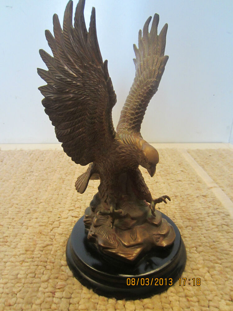 """Decorative Statues For Living Room India: COUNTRY DECOR, """"AMERICAN EAGLE"""" BRONZE STATUE"""