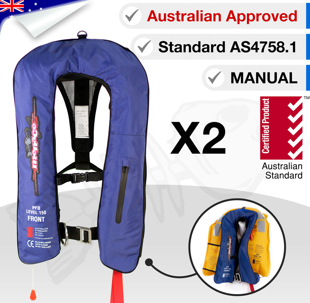 X2 adult inflatable life jackets pfd1 type 1 yoke manual for Best inflatable life vest for fishing
