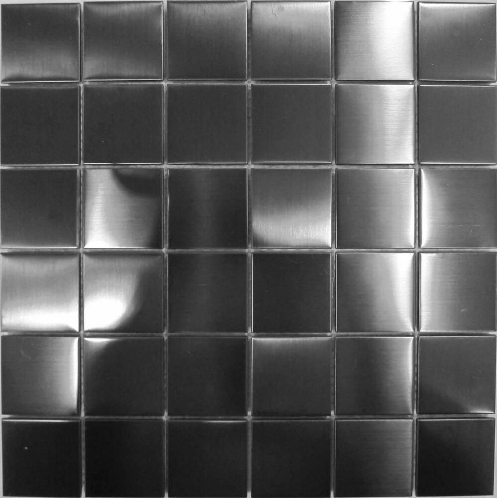 stainless steel kitchen wall tiles stainless steel mosaic wall tiles black metallic brushed 8285