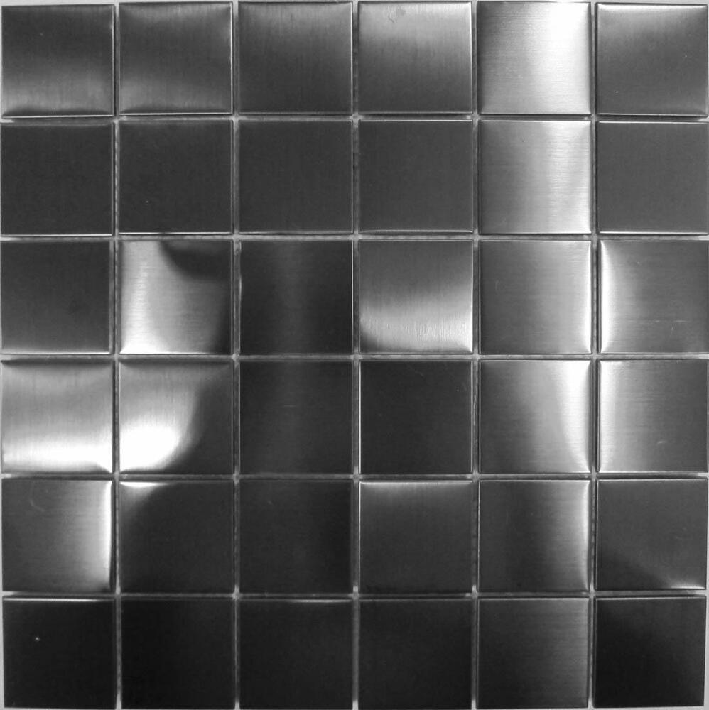 metallic tiles kitchen stainless steel mosaic wall tiles black metallic brushed 4104