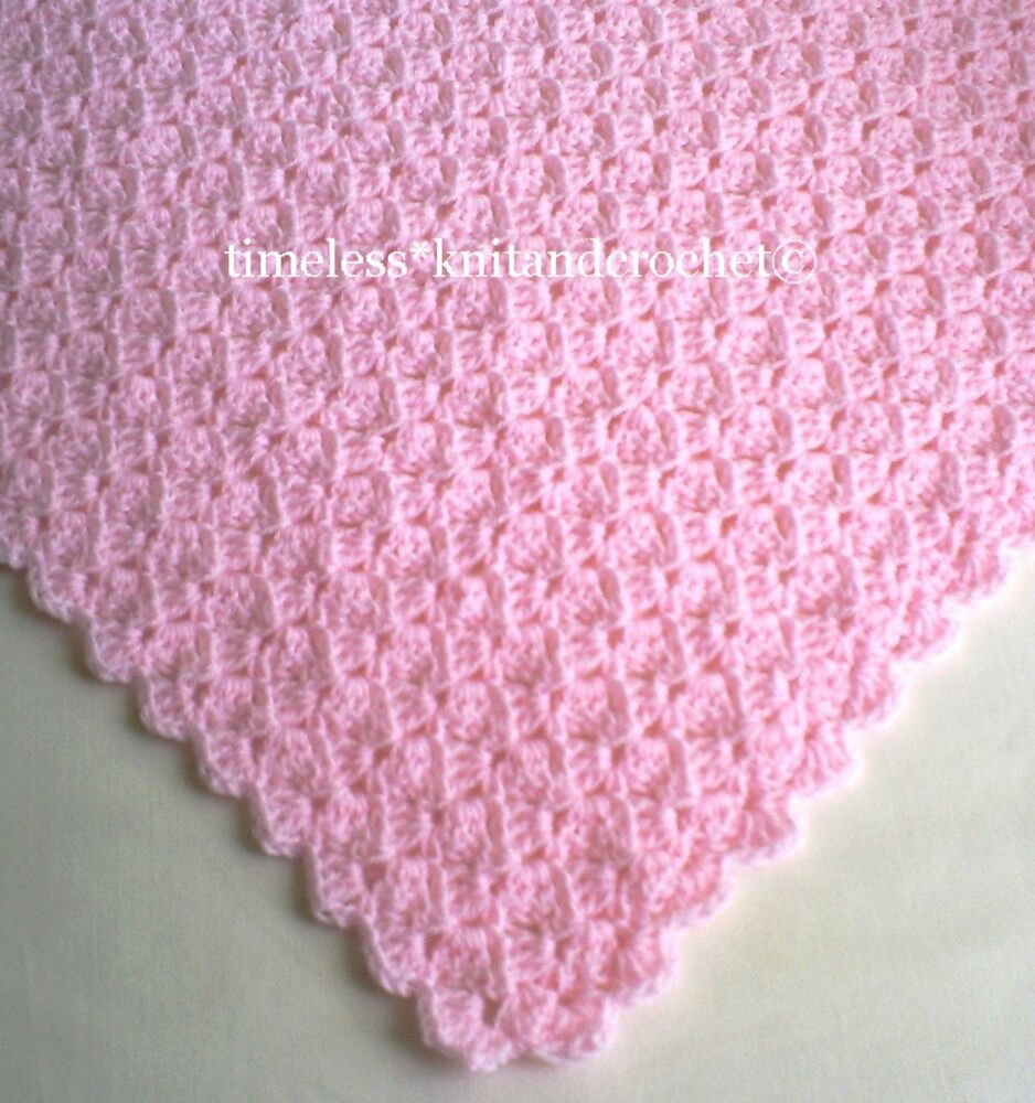 Crocheting Uk : CROCHET PATTERN FOR BABY BABIES CROCHET SHAWL / BLANKET in 4 PLY ...