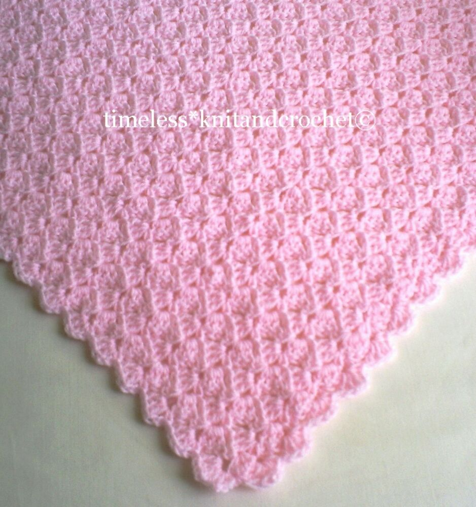 Free Newborn Wrap Crochet Pattern : CROCHET PATTERN FOR BABY BABIES CROCHET SHAWL / BLANKET in ...