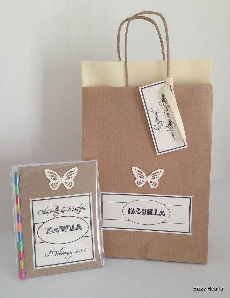 Personalised Wedding Gift Bags Uk : Personalised Childrens VINTAGE STYLE Activity Pack & Gift Bag Wedding ...