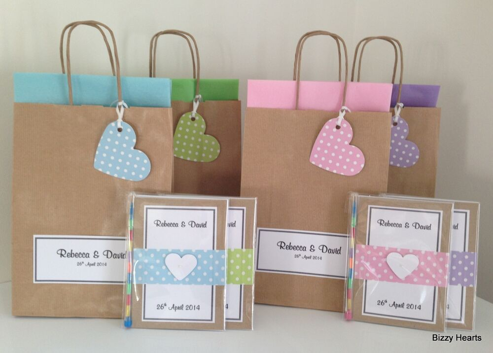 Kids Wedding Gifts: Personalised Children VINTAGE DOTTY Style Activity Pack