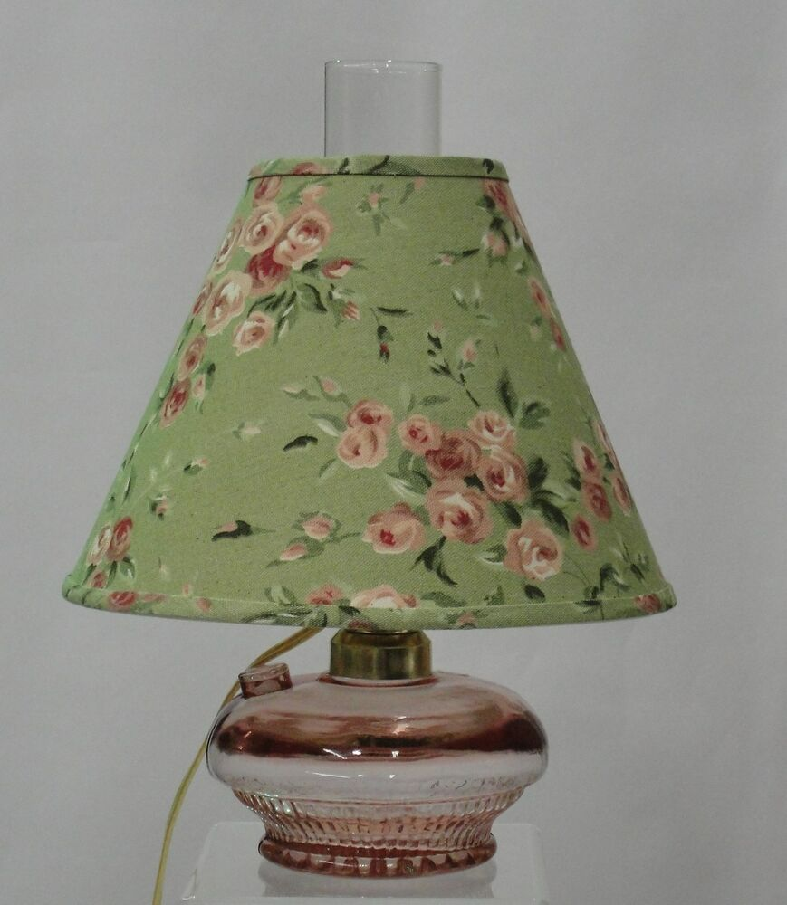 Clear Pink Electric Glass Oil Lamp with Shade | eBay