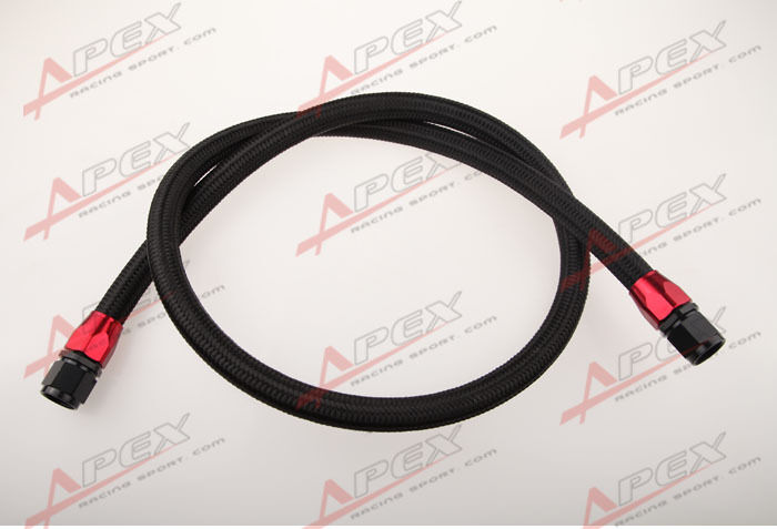 Braided Coolant Lines : Quot an nylon braided racing performance oil fuel coolant