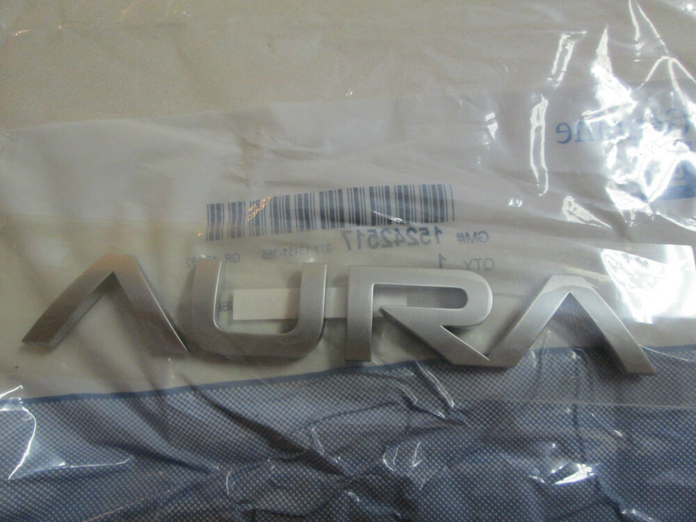 Saturn Aura Review >> 2007-2009 SATURN AURA REAR DECKLID TRUNK LID EMBLEM 15242517 | eBay