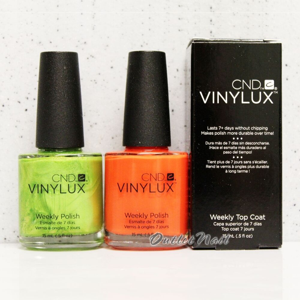 CND Vinylux Weekly Polish SET OF 2 Colors + Top Coat 15mL Nail Lacquer *SHIP 24H   eBay