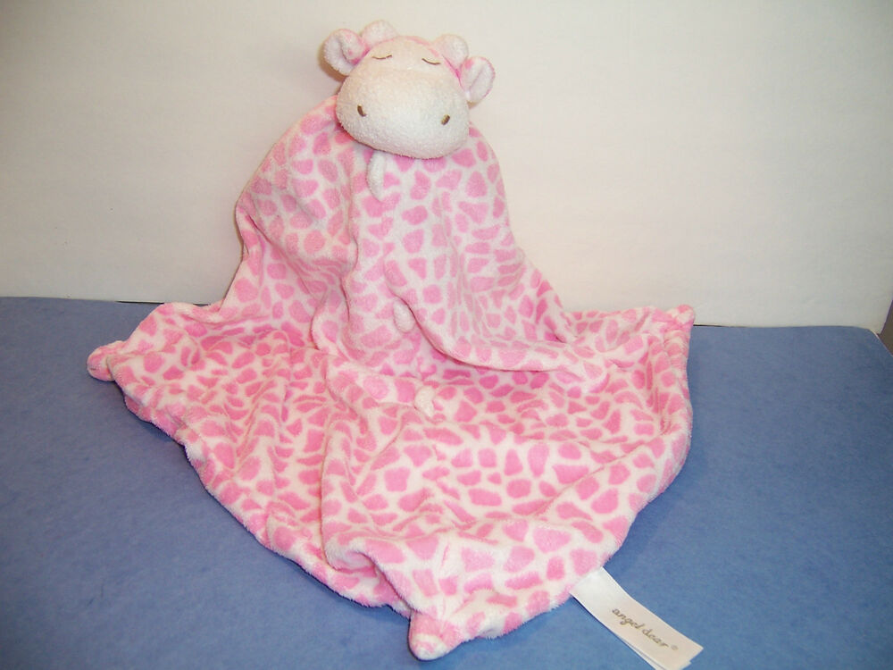 Security Blanket Angel Dear Giraffe Pink White Ex