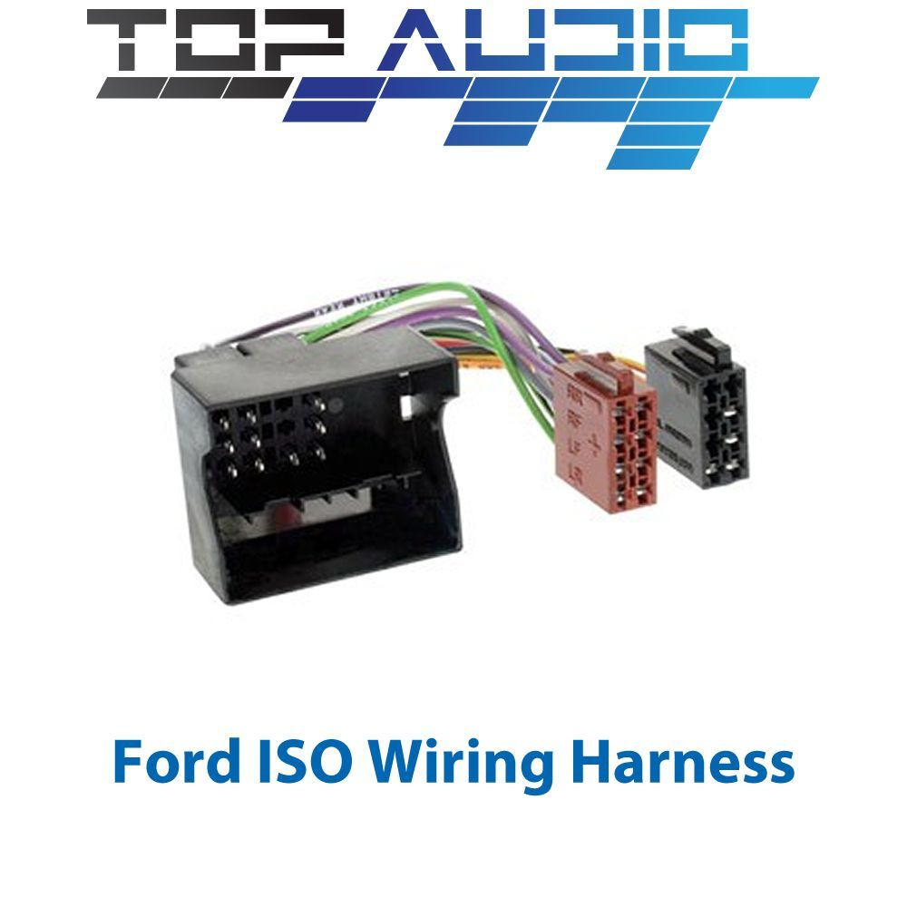 ford iso wiring harness stereo radio plug lead wire loom. Black Bedroom Furniture Sets. Home Design Ideas