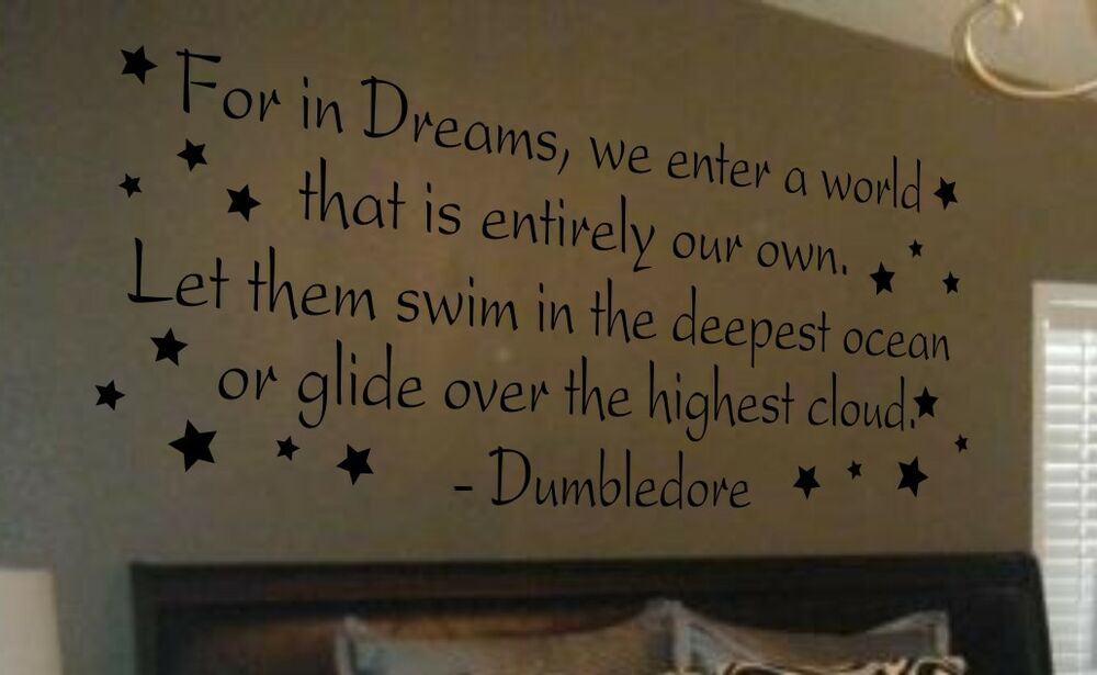 Wall Art Stickers Harry Potter : Wall decal art sticker quote vinyl lettering large