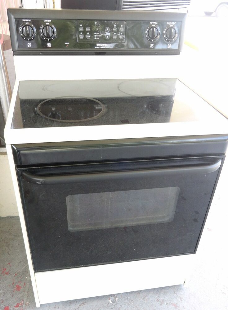 Glass Top Electric Stove ~ Used frigidaire glass top electric stove cream almond
