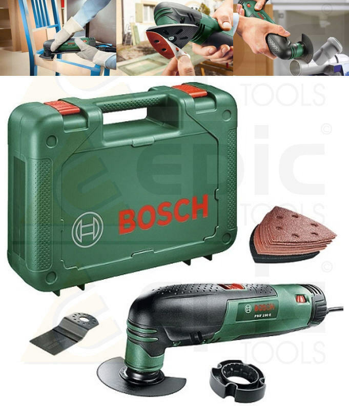 bosch 240v multi function tool with detail sander pad wood metal blades pmf190e ebay. Black Bedroom Furniture Sets. Home Design Ideas