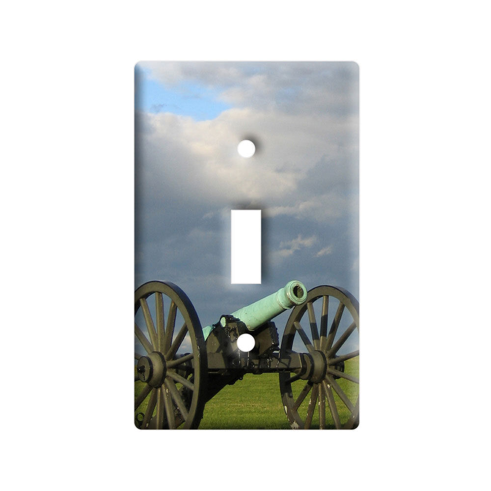 Civil War Canon - Plastic Wall Decor Toggle Light Switch Plate Cover eBay