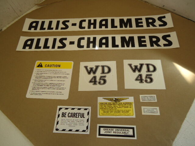 Allis Chalmers Decal Kits : New complete decals decal set kit for allis chalmers wd