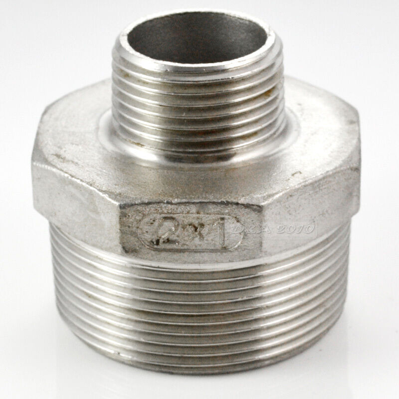 Hex nipple quot male stainless steel sus thread