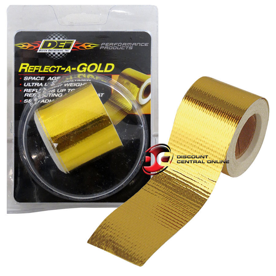 "Exhaust Heat Wrap >> DEI 010397 2"" SELF ADHESIVE REFLECT A GOLD HEAT WRAP BARRIER TAPE 30 FEET ROLL 