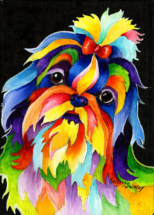 Colorful Acrylic Dog Paintings