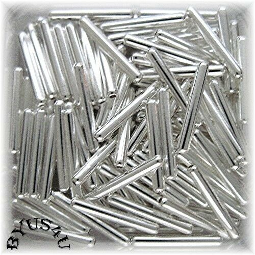 Tube capsule metal spacer beads mm silver plated pc