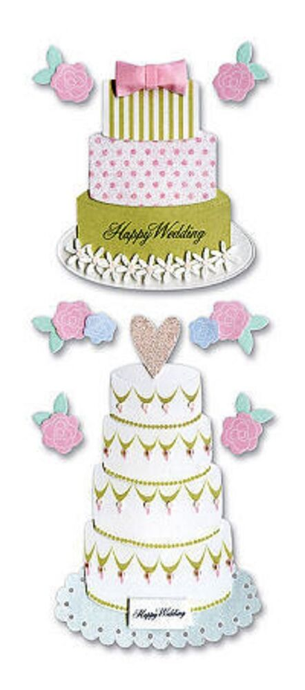 wedding cake bag stickers a touch of jolee s stickers wedding cake ebay 21785