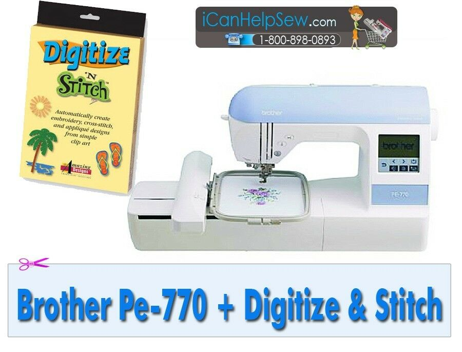 New Brother Pe 770 Dz820 Embroidery Machine Usb Digitize N