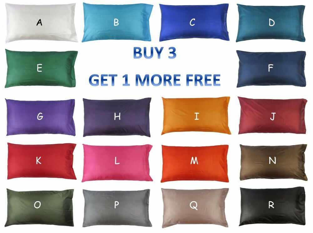 King Size Silk Bedding Pillow Case Slip Cover 50 X 92