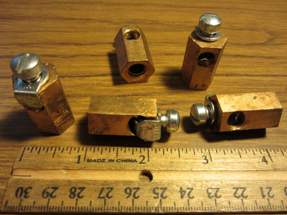 Copper female stud pigtail tap connectors awg