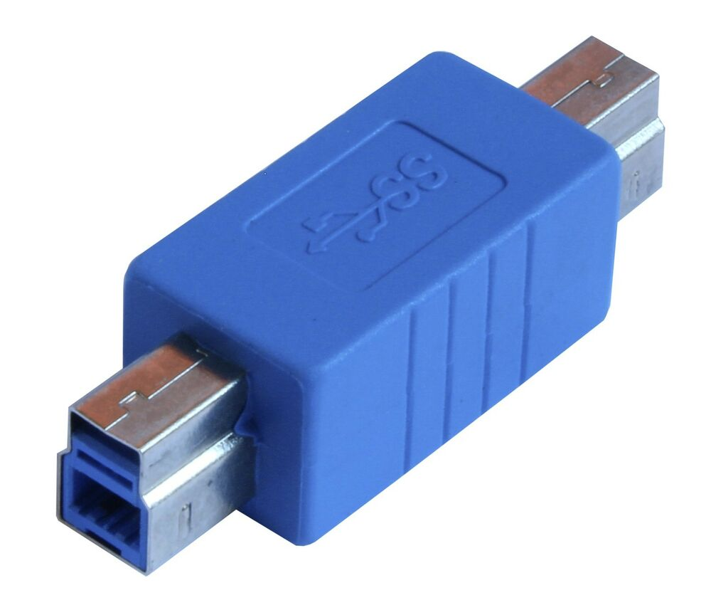 superspeed usb 3 0 type b male to 3 0 type b male converter adapter au3b11 ebay. Black Bedroom Furniture Sets. Home Design Ideas