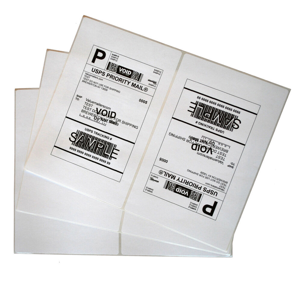 Labels 85x55 4000 shipping 85x55 half sheet self for Half page shipping labels