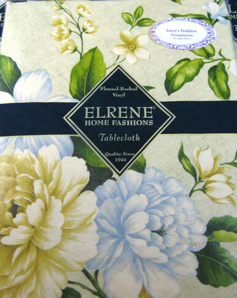 flannel backed vinyl tablecloth flannel back vinyl floral tablecloths by elrene asst 7226