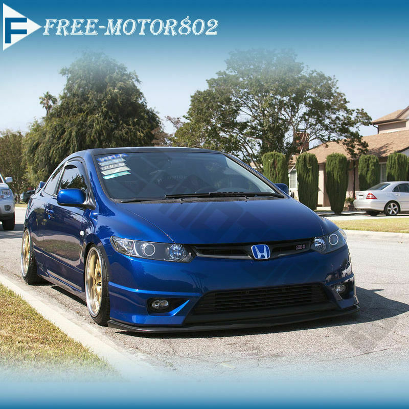 for 06 08 honda civic 2door hfp front bumper lip spoiler. Black Bedroom Furniture Sets. Home Design Ideas