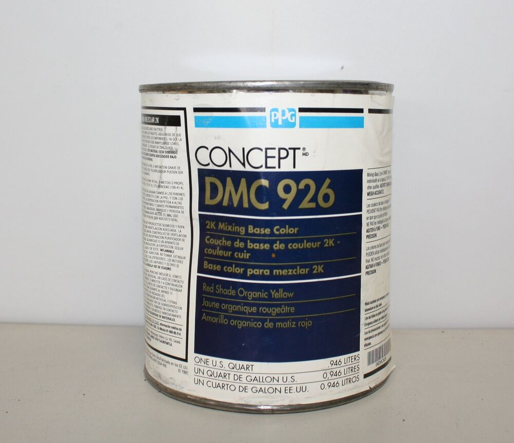 Ppg concept dmc 926 red shade organic yellow 2k mixing for Ppg automotive paint store