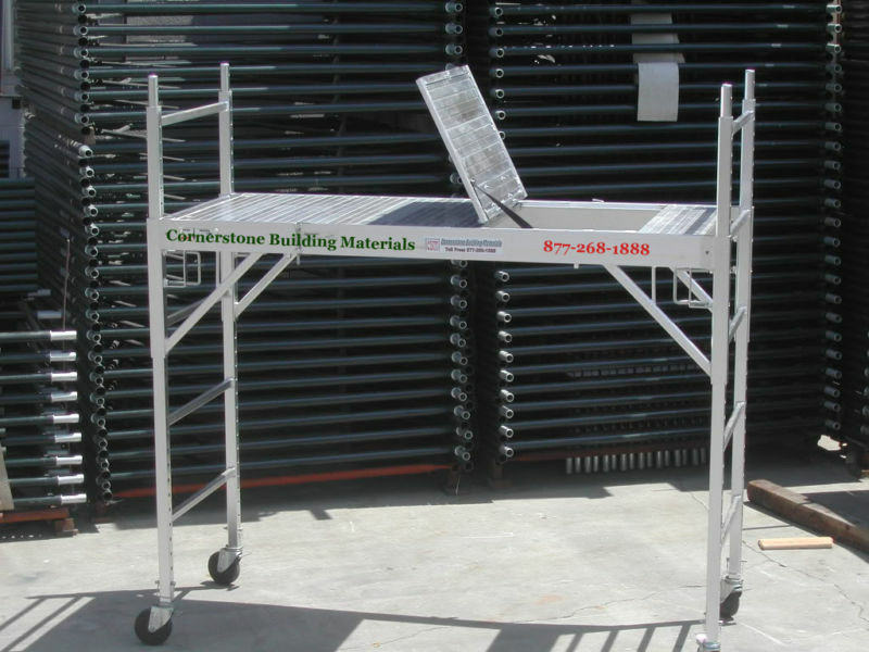 Aluminum Rolling Scaffold : Aluminum scaffold rolling tower with hatch deck