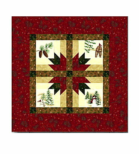 Holiday In The Pines Table Topper Quilt Kit Pattern