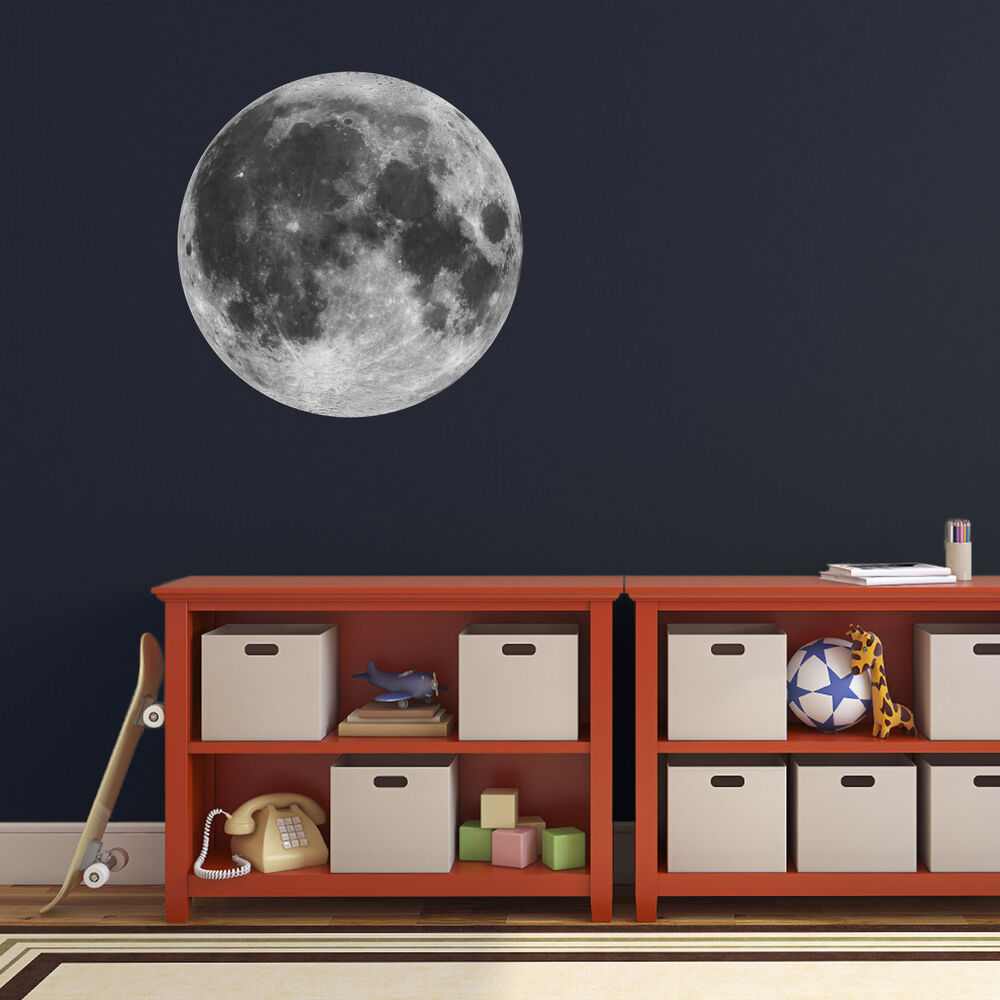 Full Moon Wall Sticker Astronomy Space Themed Wall