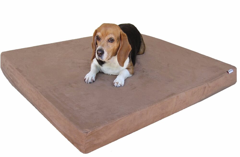 41SP Large Brown Waterproof Orthopedic Memory foam Pet Bed