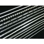 Various Solid Sterling Silver 925 Italian Chain Anklet Bracelet Necklace Styles