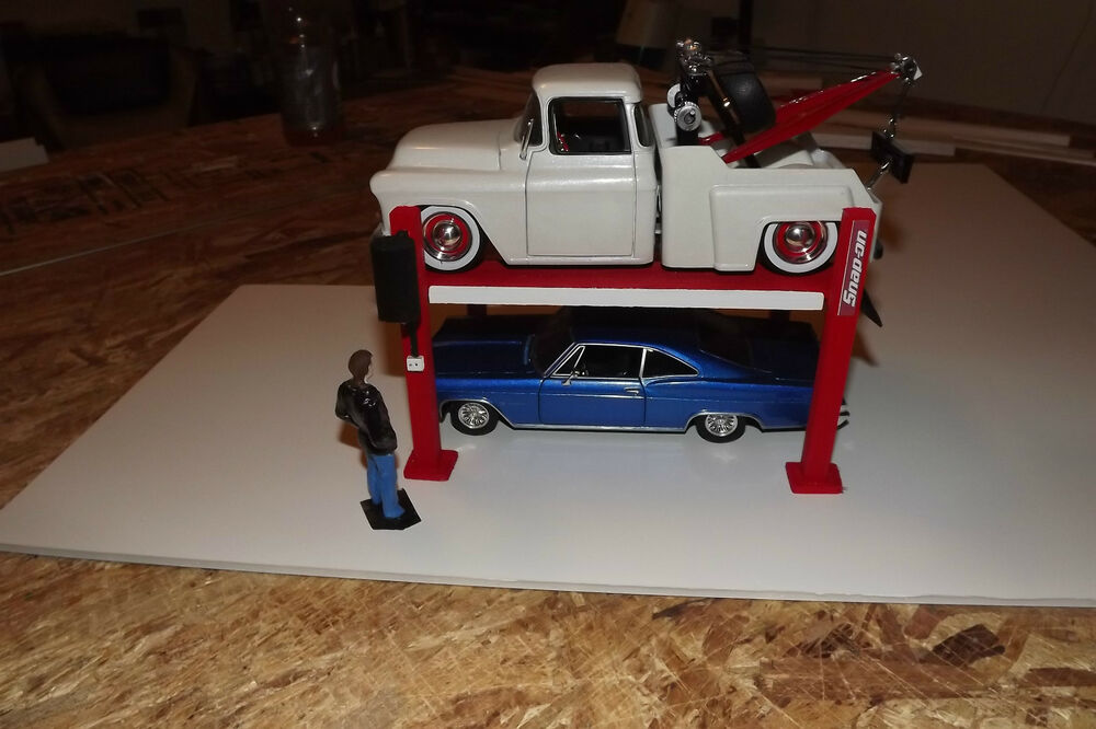 Icon Lift Kits >> 1/24 & 1/25 Scale Diorama 4 post car lift for your work shop garage NEW ! | eBay
