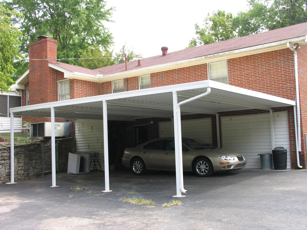 Attached Metal Carports : X patriot panel wall attached gauge steel