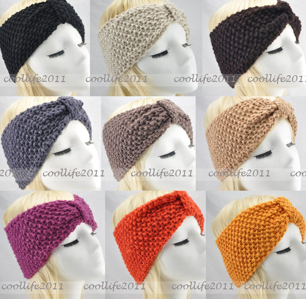 NEW WINTER Knit headband Crochet warmer Head wrap Headband Ear Warmer Gift ...