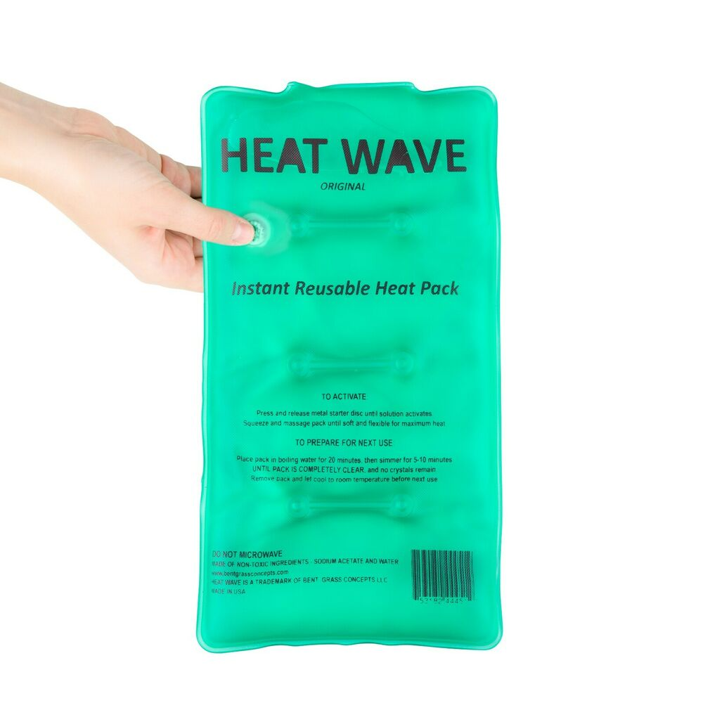 Instant Reusable Heat Pack : Heat wave instant reusable pack medium hw