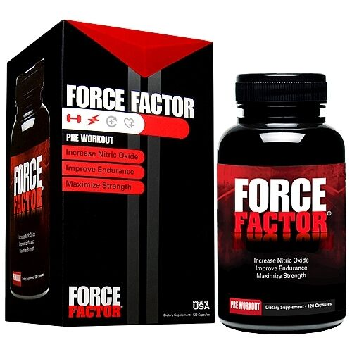 FORCE FACTOR Nitric Oxide Booster 120 Capsules Pre Workout