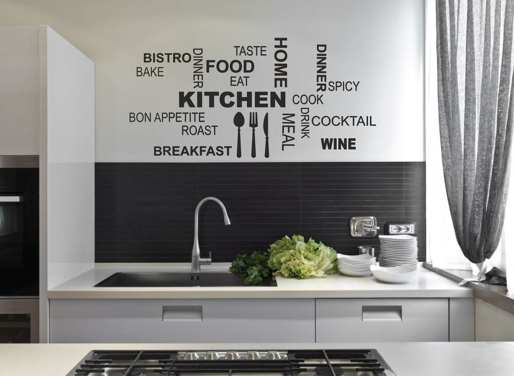 Kitchen Wall Quote Stickers Cafe Vinyl Art Decals decor ...